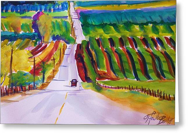 View On Lewis Hill Back Of Moms Ranch Greeting Card by Therese Fowler-Bailey
