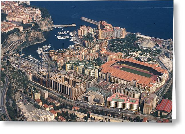 View On Monte Carlo On French Riviera Greeting Card by Carl Purcell