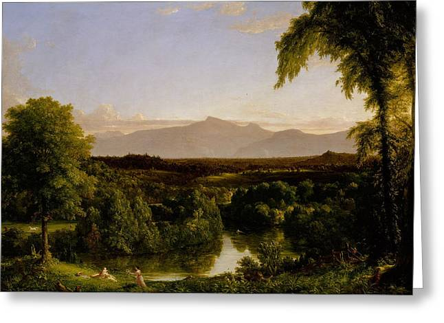View On The Catskill Early Autumn Greeting Card