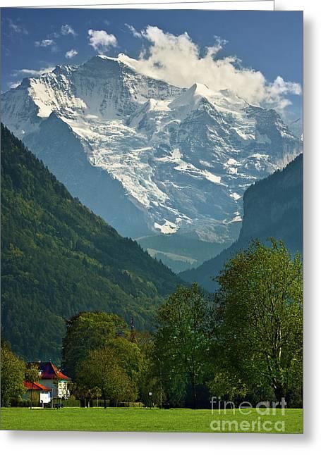 View On The Jungfrau - Interlaken - Switzerland Greeting Card