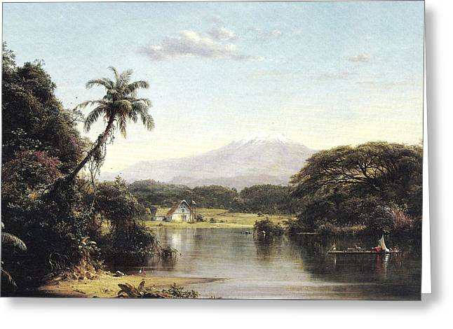 View On The Magdalena River Greeting Card
