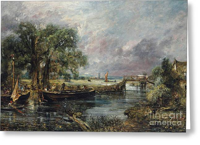 View On The Stour Near Dedham Greeting Card
