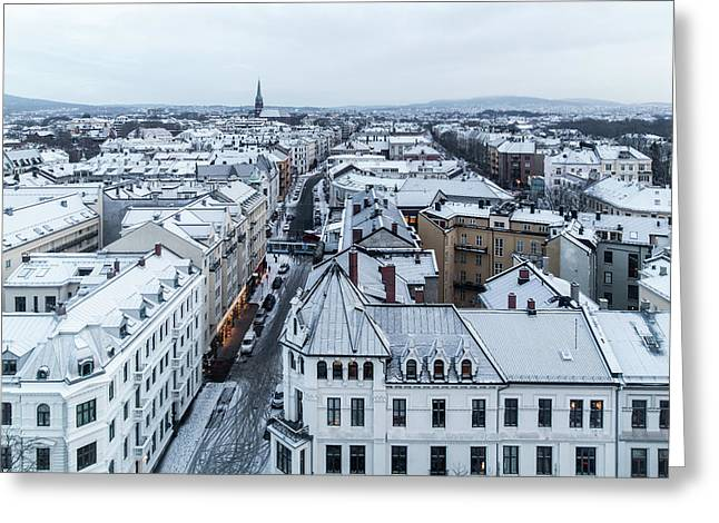 View Over The Frogner Borough Of Oslo Greeting Card