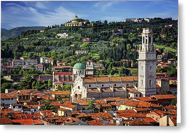 View Over Verona Italy  Greeting Card
