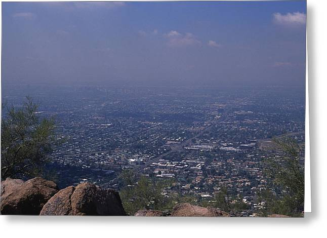 View Overlooking Phoenix, Arizona Greeting Card by Stacy Gold