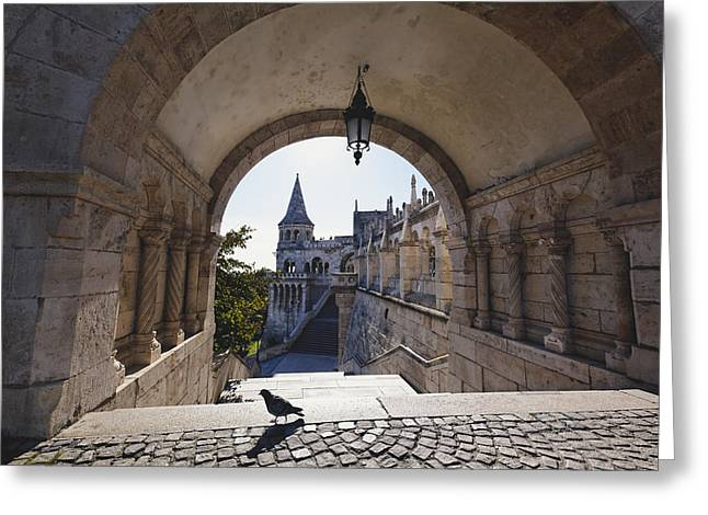 View Through An Arch Fisherman's Bastion Greeting Card