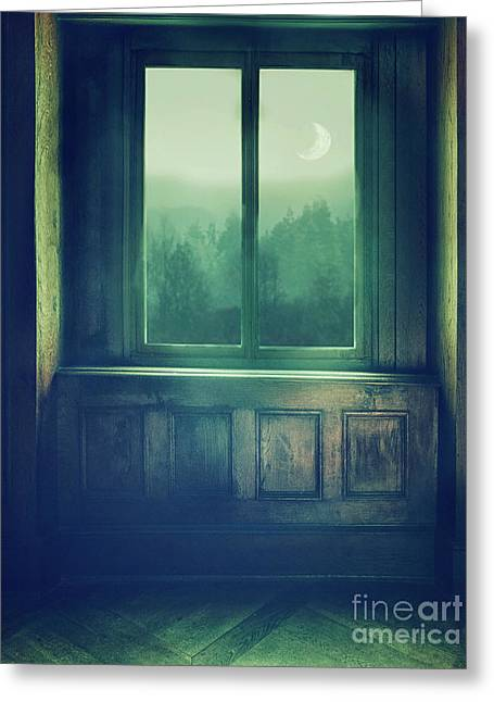 View Through Window Greeting Card by Mythja Photography