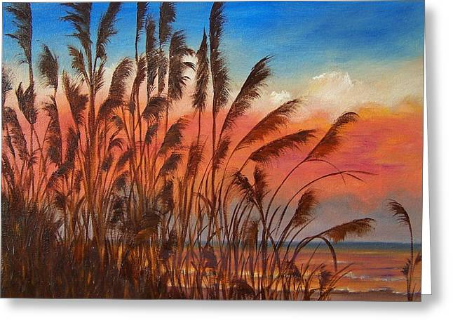 View Thru Seaoats Sold Greeting Card by Susan Dehlinger