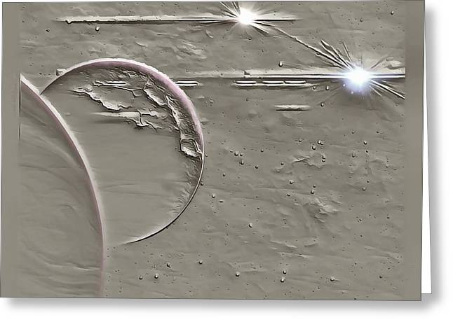 View To A Gray Universe Greeting Card