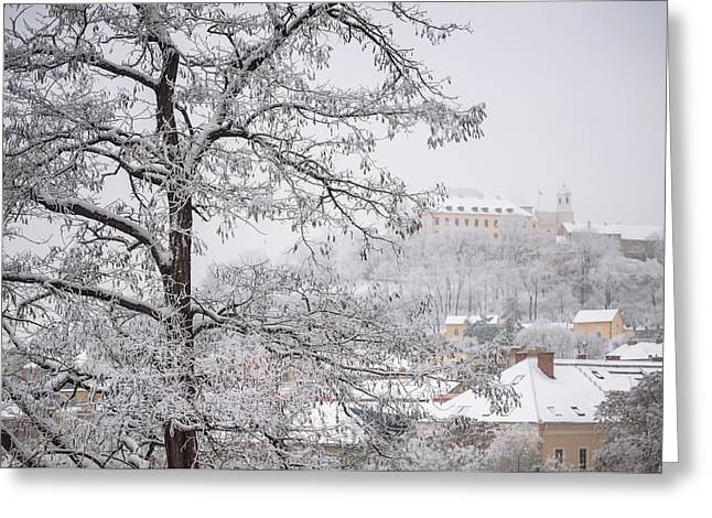 View To Spilberg Castle In Brno Greeting Card