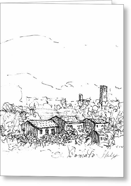 View To St.donato Greeting Card by VIVA Anderson