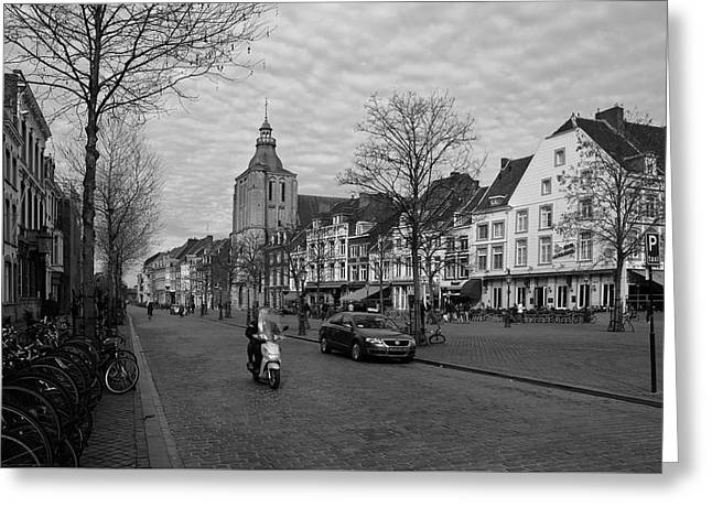 View To The Bosch Street In Maastricht Greeting Card by Nop Briex