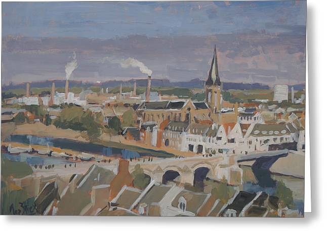 View To The East Bank Of Maastricht Greeting Card