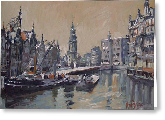 View To The Mint Tower Amsterdam Greeting Card by Nop Briex