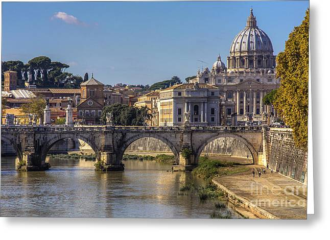 View Towards Saint Peter's Basilica Greeting Card by Spencer Baugh