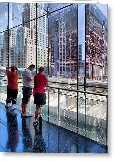 Viewing Ground Zero 2 Greeting Card by Robert Ullmann