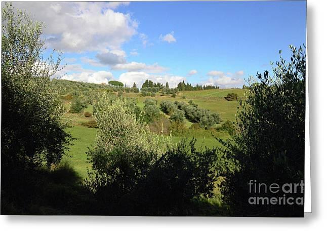 Views And Vistas In Tuscany Greeting Card by DejaVu Designs