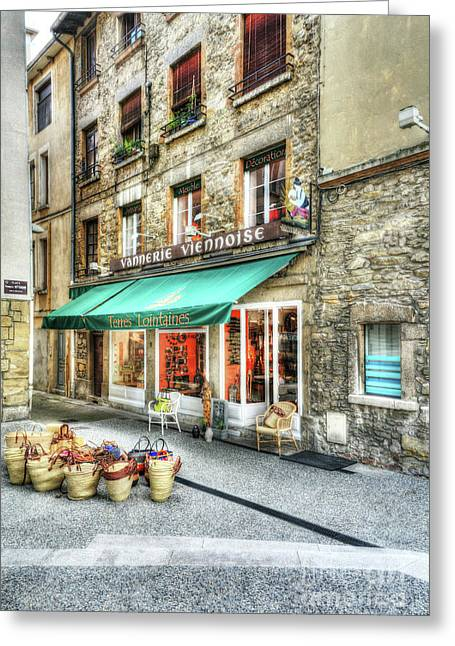 Views Of Vienne France Greeting Card by Mel Steinhauer