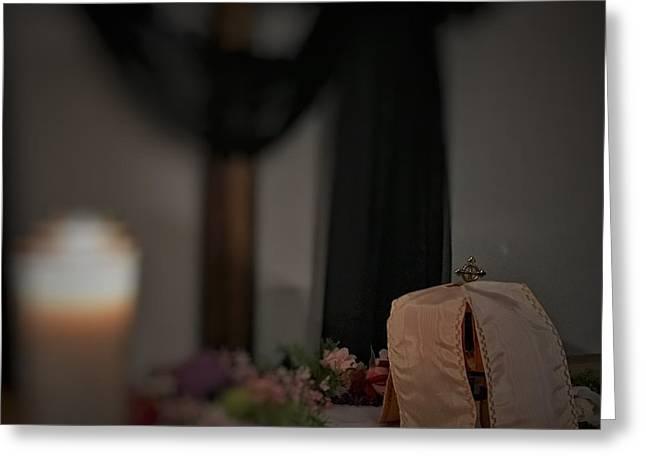 Vigil At The Altar Of Repose Greeting Card