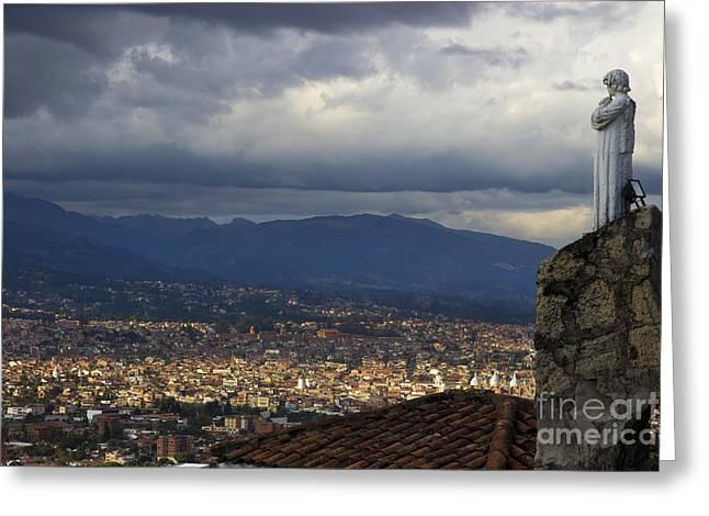Vigil Over Cuenca From Turi Ecuador II Greeting Card