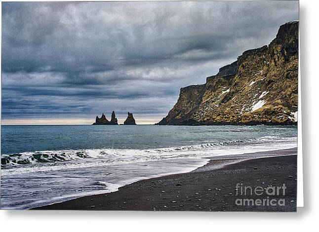 Vik Winter Wonderland Beach Greeting Card