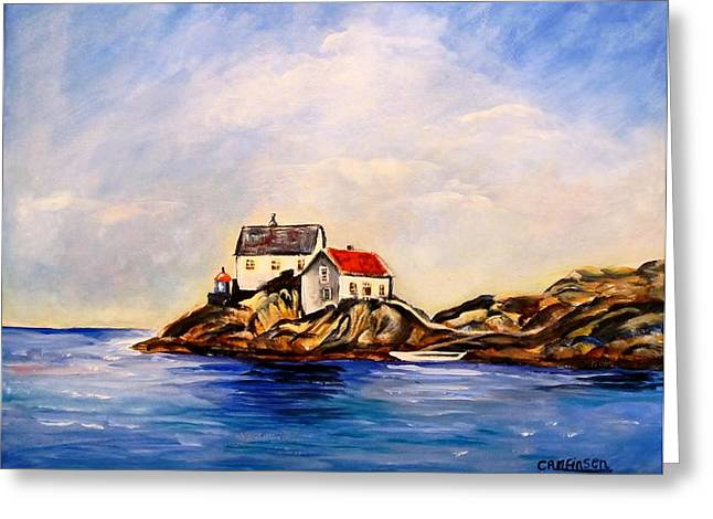 Vikeholmen Lighthouse Greeting Card