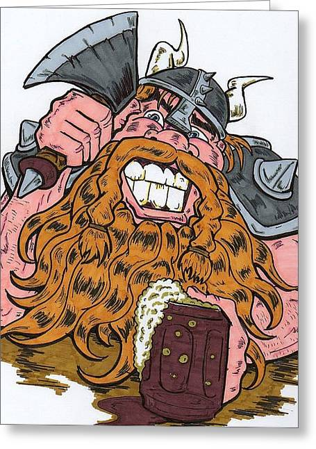 Viking Greeting Card by Anthony Snyder