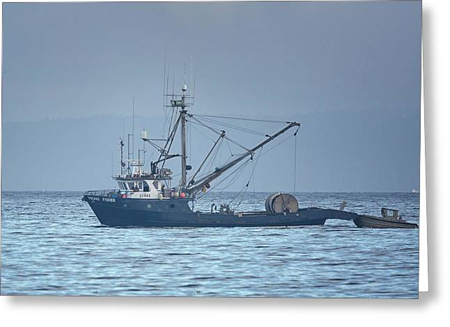 Greeting Card featuring the photograph Viking Fisher 3 by Randy Hall