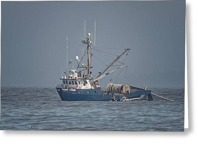 Greeting Card featuring the photograph Viking Fisher 4 by Randy Hall