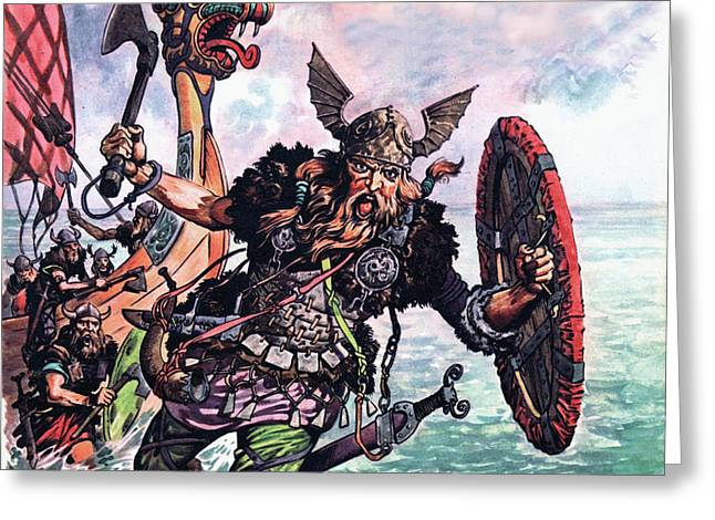 Vikings Greeting Card by Peter Jackson