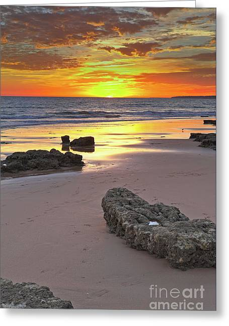 Vila Gale Beach At Sunset Greeting Card by Angelo DeVal