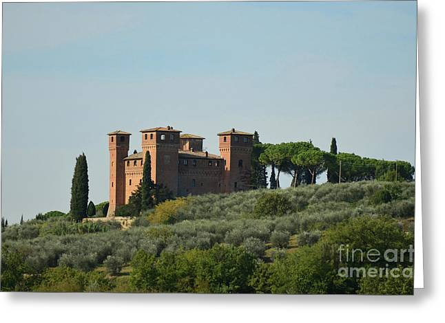 Villa Architecture In Tuscany Italy Greeting Card by DejaVu Designs