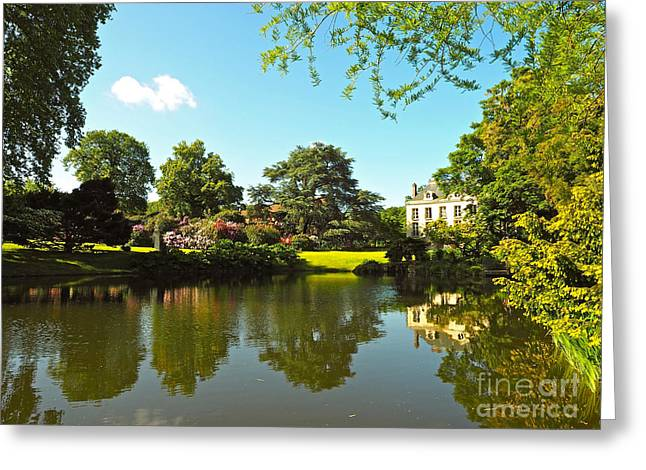 Villa At The Arboretum Greeting Card by Alex Cassels