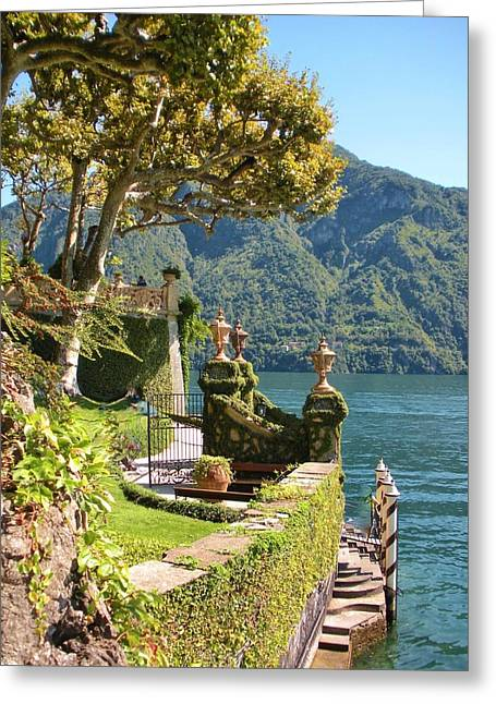 Villa Greeting Cards - Villa Balbianello Marina Greeting Card by Marilyn Dunlap