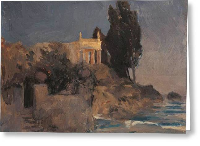 Villa By The Sea Greeting Card