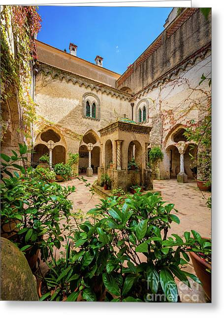Villa Cimbrone Courtyard Greeting Card by Inge Johnsson