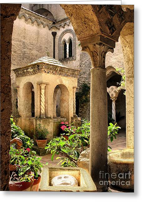 Villa Cimbrone. Ravello Greeting Card