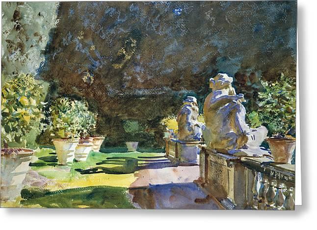 Villa Di Marlia Lucca Greeting Card by John Singer Sargent