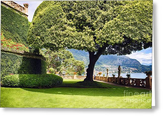 Villa Garden On Lake Como Greeting Card