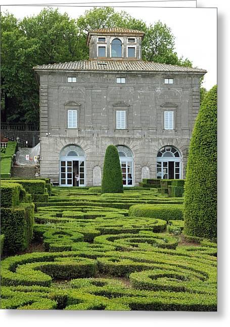 Villa Lante Greeting Card by Valentino Visentini