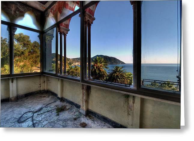 Villa Of Windows On The Sea - Villa Delle Finestre Sul Mare II Greeting Card