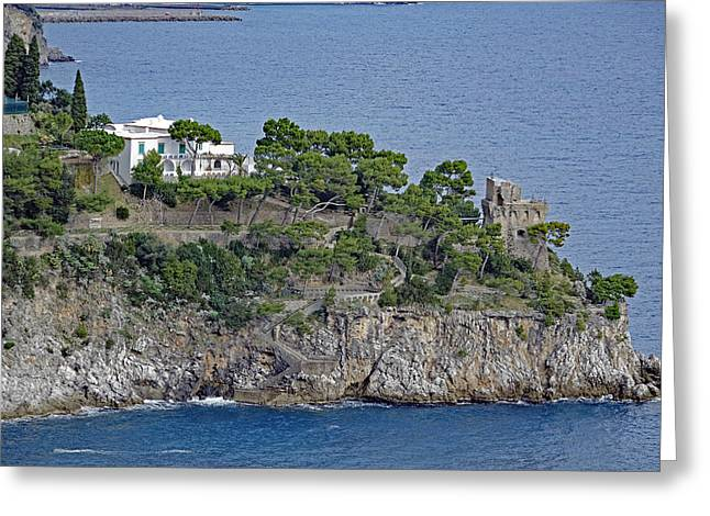 Villa Owned By Sophia Loren On The Amalfi Coast In Italy Greeting Card