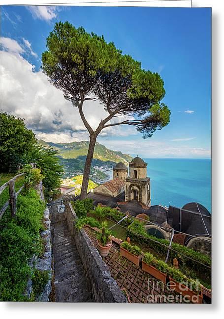 Villa Rufolo Greeting Card by Inge Johnsson