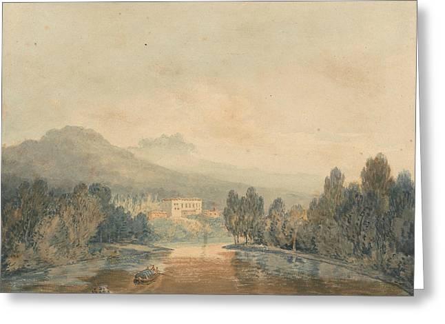 Villa Salviati On The Arno Greeting Card by Joseph Mallord William Turner