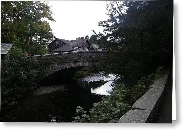 Village Bridge Greeting Card