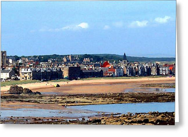 Village By The Sea Greeting Card by Lyle  Huisken