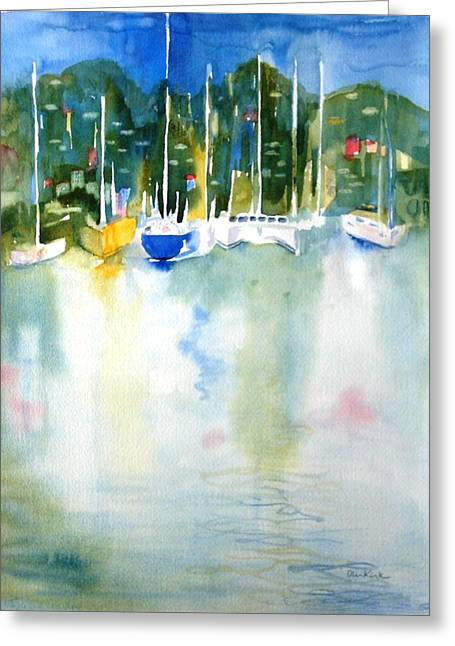 Village Cay Reflections Greeting Card