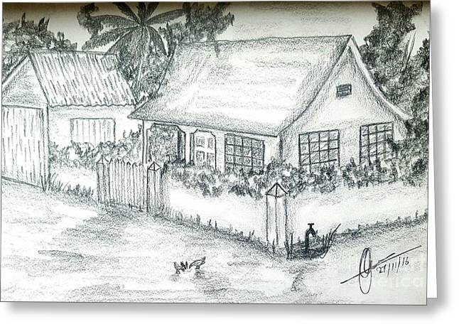 Village Home  Greeting Card by Collin A Clarke