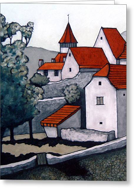 Village, Lot Valley Greeting Card