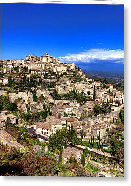 Village Of Gordes In Provence Greeting Card by Olivier Le Queinec